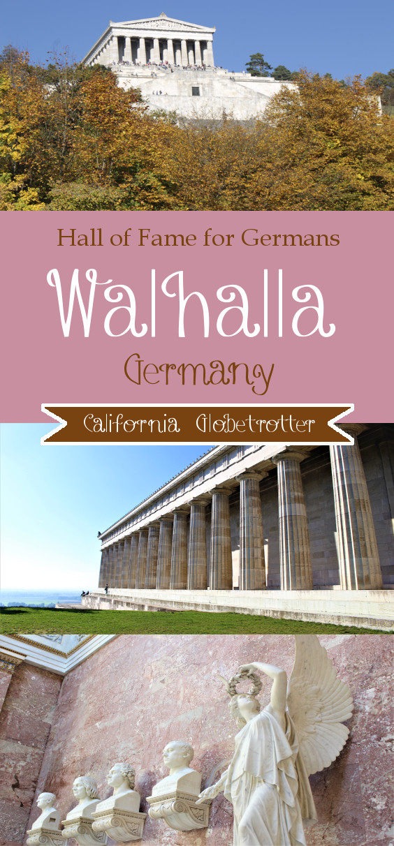 Walhalla Hall of Fame for Germans, Donaustauf near Regensburg, Bavaria Germany - California Globetrotter