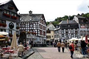 The Adorable Half-timbered Town of Monschau, Germany | Towns in North-Rhein Westphalia | Northern Germany Towns to Visit | Half-timbered Towns in Germany | Fairy Tale Towns in Germany | North Eifel Towns | Day Trip from Aachen | Day Trip from Frankfurt | Day Trip from Belgium | Small German Towns Survived WWII | Best Places to Visit in Germany | #Monschau #NorthRheinWestphalia #Germany - California Globetrotter
