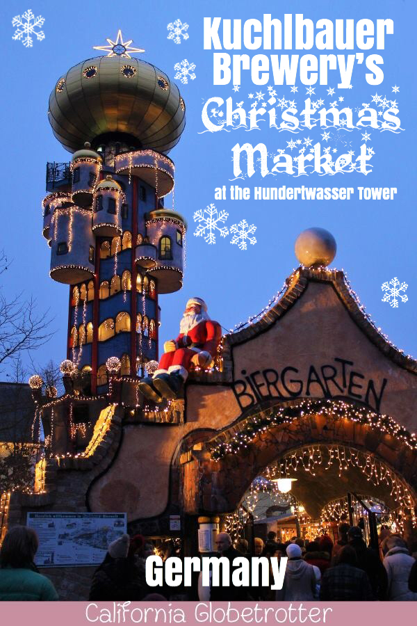 Kuchlbauer Brewery's Christmas Market at the Hundertwasser Tower | Weihnachtsmarkt am Kuchlbauer Turm | Friedrich Hundertwasser Tower | Unique Christmas Markets in Germany | Germany Christmas Markets | Southern Germany Christmas Markets | Christmas Markets near Munich | Christmas Markets near Regensburg | Interesting Christmas Markets | Bavaria Christmas Markets | #Abensberg #Bavaria #Germany - California Globetrotter