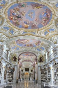 A Real Life Fairy Tale Library at Admont Abbey, Austria - Beauty and the Beast Library - World's Most Beautiful Libraries - Amazing Libraries - Libraries in Europe - California Globetrotter