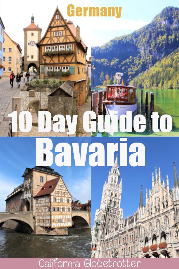 Your 10 Day Guide to Bavaria, Germany | Bavaria Itinerary | Bavaria Travel Inspiration | The Best of Bavaria | Where to go in Bavaria | What to See in Bavaria | Bavaria Road Trip | Travel Bavaria | Day Trips from Munich | Regensburg | Munich | Nuremberg | Schloss Neuschwanstein | #Bavaria #Bayern #Germany #Deutschland - California Globetrotter