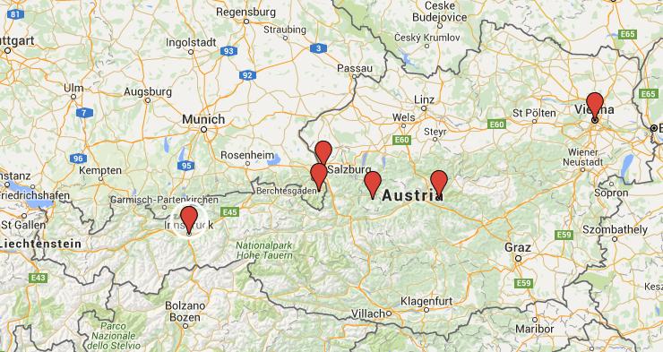 Your Day Road Trip Through Austria California Globetrotter - Road map of austria
