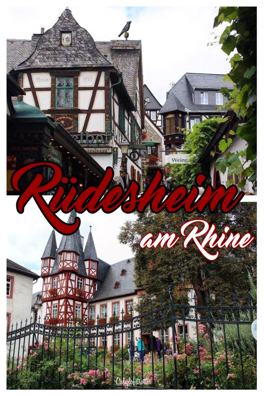 Rüdesheim am Rhein | Castles on the Rhein | Towns to Visit along the Rhein River | Half-timbered Towns in Germany | Small Towns to Visit in Germany | Exploring the Rhein River | Rhein River Boat Cruise | Top Places to Visit in Germany | Day Trips from Frankfurt | Day Trips from Stuttgart | Rhein Valley Germany | Rhein Wines | #Rüdesheim #RüdesheimamRhein #Germany #halftimbered - California Globetrotter