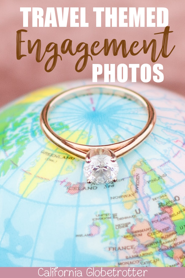 Travel Themed Engagement Photos | Travel Engagement Photos | Travel Themed Engagement Ideas | Travel Engagement Photo shoot | Travel Inspired Engagement Photos | Engagement Travel Photos | Airport Engagement Photos | World Traveler Engagement Photos | Love is an Adventure! | Vintage Suitcases | #Travel #EngagementPhotos - California Globetrotter