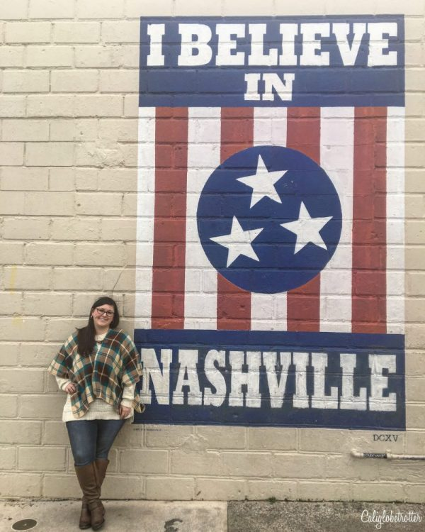 Where to Find Street Art in Nashville, Tennessee | Wall Murals in Nashville | Top Wall Murals in Nashville | Downtown Nashville Street Art | Nashville Wall Art | Nashville Wings Mural | I Believe in Nashville | Make Music Not War mural | Nashville's Most Instagrammable Spots | Instagram Guide to Nashville - California Globetrotter