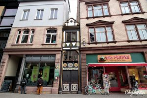Superlatives of Germany - Eisenach Narrowest Half-timbered House, Thuringia, Germany - California Globetrotter