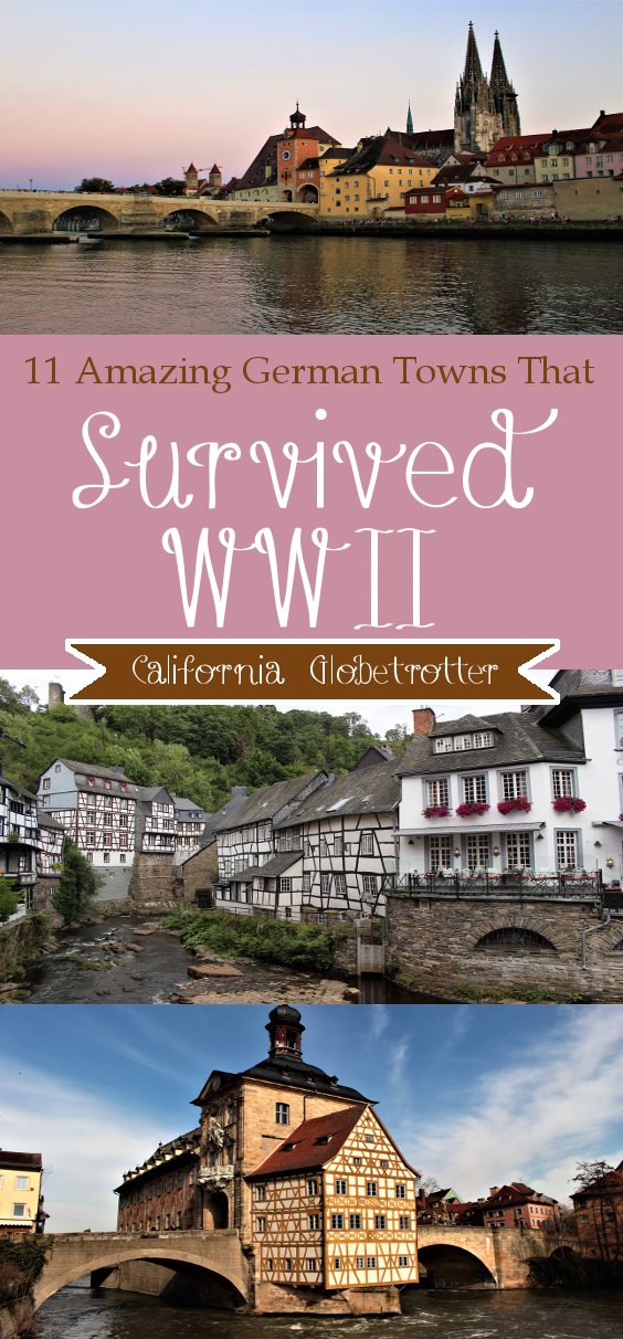 11 Amazing German Towns Not Destroyed by WWII - Cities that Survived WWII - Towns Not Destroyed by World War Two: Regensburg, Bavaria, Germany - Germany - California Globetrotter