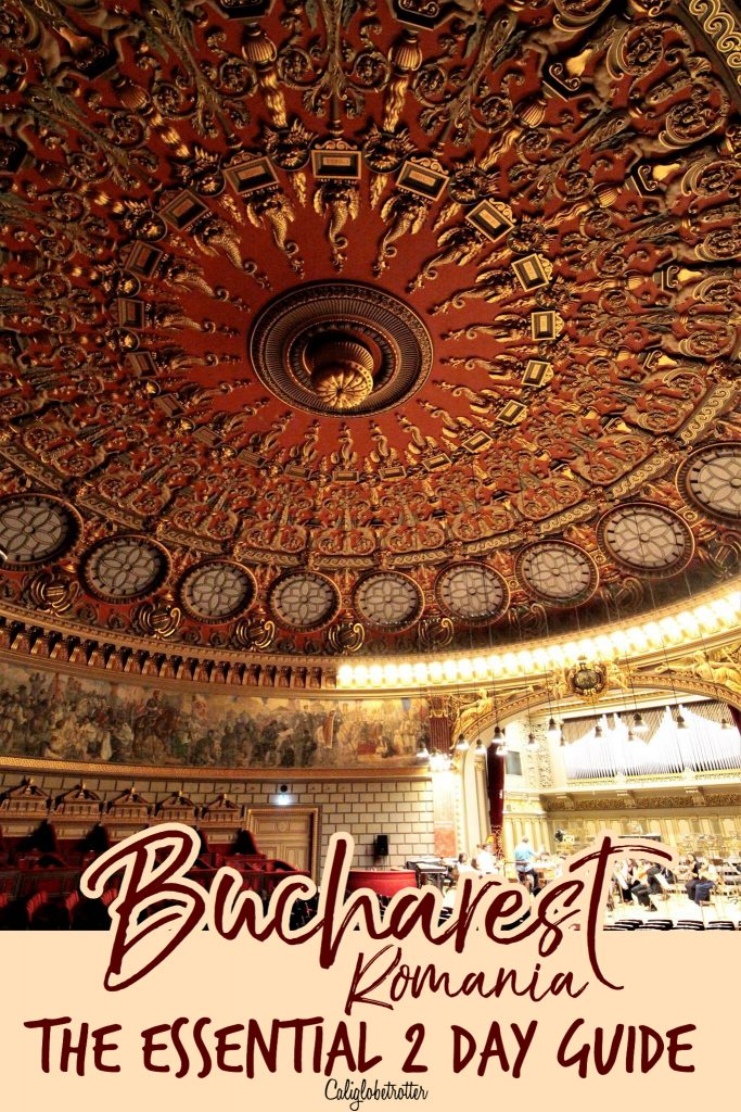 Bucharest, Romania: The ESSENTIAL 2 Day Guide | Best of Bucharest | Bucharest Itinerary | Sightseeing in Bucharest | What to do in Bucharest | Unique Things to do in Bucharest | Using Public Transportation in Bucharest | Where to eat in Bucharest | Top Destinations to Visit in the Balkans | Balkan Travel | #Bucharest #Romania #Balkans #BalkanTravel #Europe - California Globetrotter