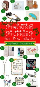 FABULOUS Stocking Stuffers for Mrs. Traveler - Christmas Stocking Stuffers - California Globetrotter (2)