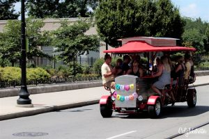 Pedal Wagon Beer Bike | A City Rejuvenated: Cincinnati, Ohio | What to do in Downtown Cincinnati | What to do in Over-the-Rhine | Why You Should Visit Cincinnati | Most Promising Cities in the US | Top Cities to Visit in 2018 | Sightseeing in Cincinnati | Cincinnati Main Attractions | OhioLove | Cincy Sights | Travel USA | Cities to Visit in America | Cities in Ohio | Day Trip from Louisville, KY | #Cincinnati #Ohio #Cincy #USA - California Globetrotter