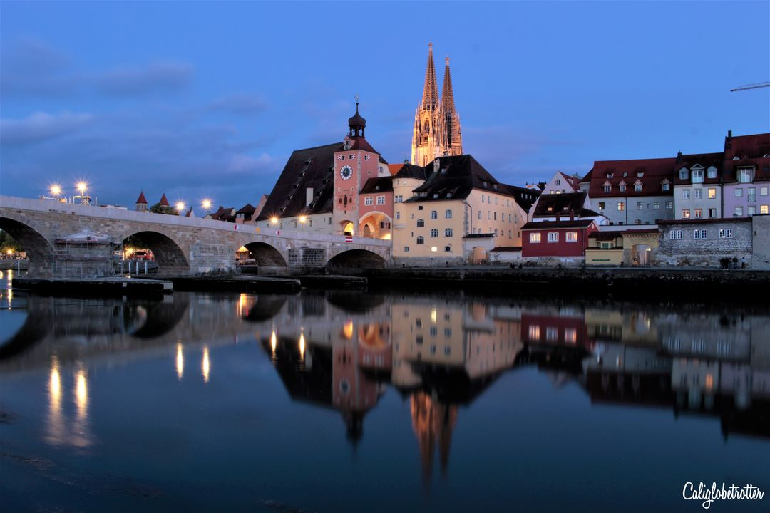 Blue Hour in Regensburg, Germany | Tips for Taking Blue Hour Photos While Traveling | How to Take Blue Hour Photos | Equipment for Blue Hour Photos | Camera Equipment for Blue Hour Photos | When is Blue Hour? | What is Blue Hour? | Blue Hour Photography | Travel Photography | Beginner Photographer Tips | Travel Photography Tips | Tips for Taking Photos at Blue Hour - California Globetrotter
