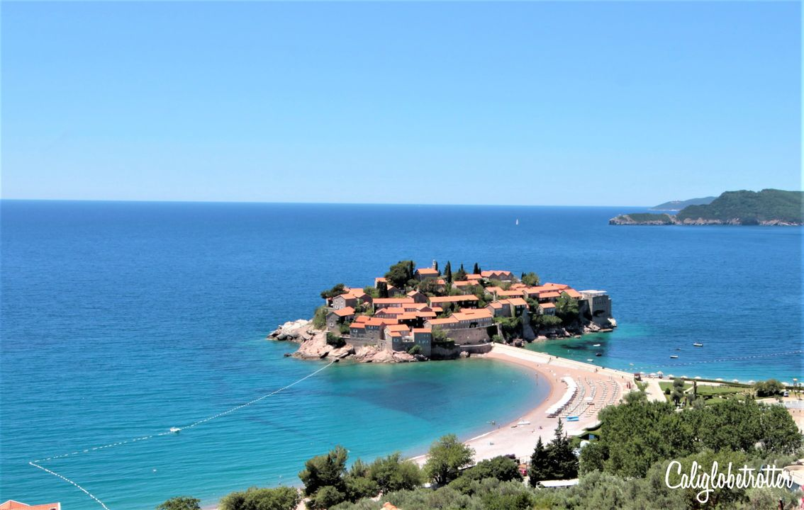 Sveti Stefan, Montenegro | 2 Day Montenegro Itinerary | Coastal Towns in Montenegro | Best Places to Visit in Montenegro | Best Cities in Montenegro | Budva Riviera | Bay of Kotor | Sveti Stefan | Amzing Places to Visit in the Balkans | Balkan Cities to Visit | Balkan Travel | Discover the Balkans | Tips for Visiting Montenegro | Driving in Montenegro | #Montenegro #Balkans - California Globetrotter