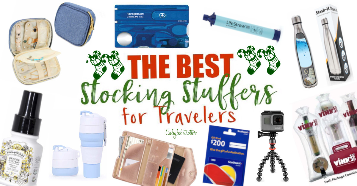 The Best Stocking Suffers for Travelers | Stocking Stuffer Gifts for Travelers | Travel Stocking Stuffers | Affordable Travel Gifts for Travelers | Christmas Gifts for Travelers | Stocking Stuffers for Her | Stocking Stuffers for Him | Useful Travel Gifts | Great Small Travel Gifts | Travel-friendly Gifts | Eco-friendly Travel Gifts - California Globetrotter