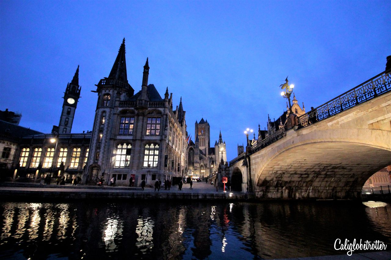 Blue Hour in Ghent, Belgium | Tips for Taking Blue Hour Photos While Traveling | How to Take Blue Hour Photos | Equipment for Blue Hour Photos | Camera Equipment for Blue Hour Photos | When is Blue Hour? | What is Blue Hour? | Blue Hour Photography | Travel Photography | Beginner Photographer Tips | Travel Photography Tips | Tips for Taking Photos at Blue Hour - California Globetrotter